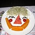 可愛水果擺盤