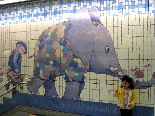 很可愛的大象與兔子
