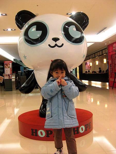 站前微風的可愛熊貓