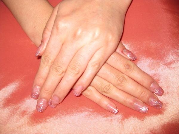 粉色夾心水晶