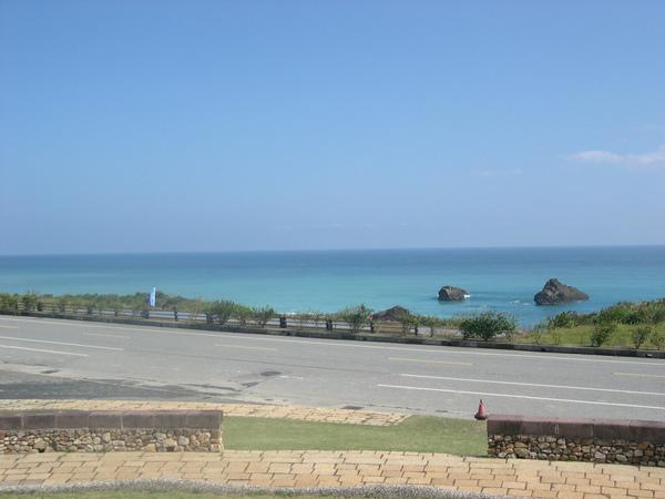 花蓮海天一色的景觀