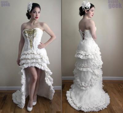 衛生紙婚紗3