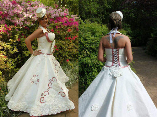 衛生紙婚紗4