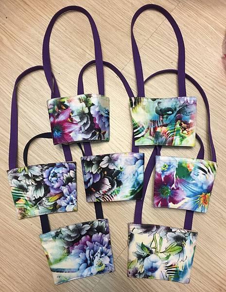紫花水暈 花布好美