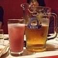 葡萄氣泡酒&大杯啤酒