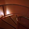 樓梯是粉紅色的