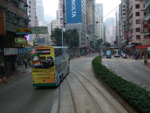 電車軌道跟巴士