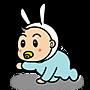 小兔兔爬行