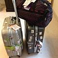 旅行中的行李