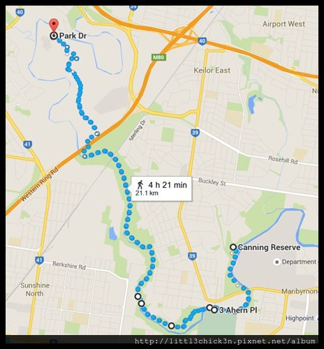 20160103 Brimbank Park and Maribyrnong River Walking Route.JPG