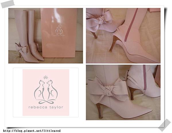 Rebecca taylor 粉紅蝴蝶結靴