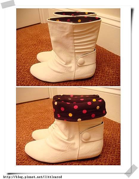 Schuh白色小短靴
