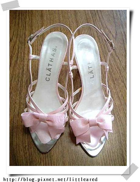 CLATHAS粉紅高跟涼鞋