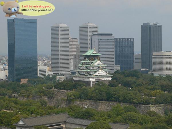 遠眺大阪城
