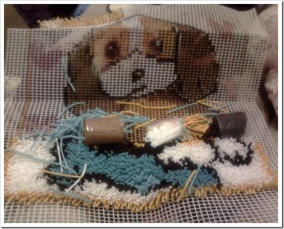 Doggie-手勾紗抱枕1