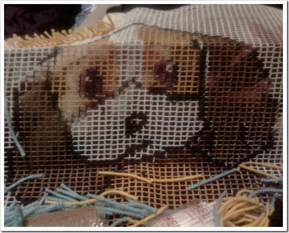 Doggie-手勾紗抱枕2