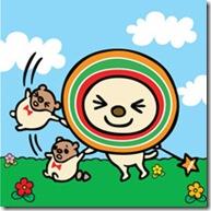 靜態02_OPEN小將與小竹輪在草地上玩耍