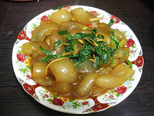 炒曼波魚皮-1
