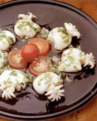 食譜名稱:花枝佐大蒜與荷蘭芹