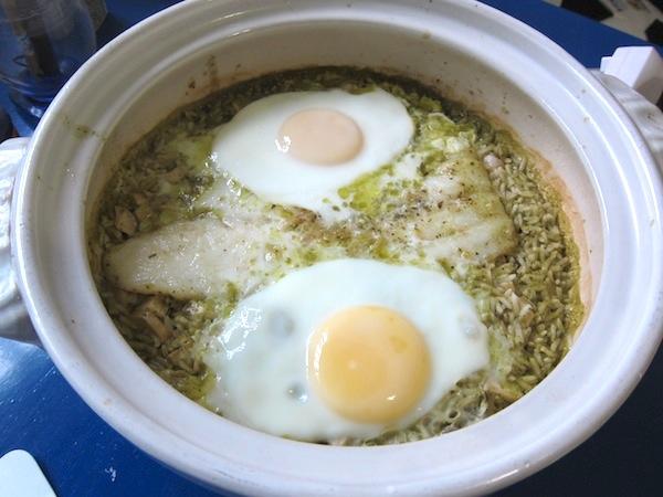 [料理] 香椿魴魚干貝煲仔飯1