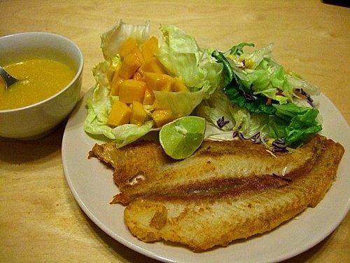 香煎多利魚佐芒果醬