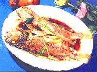 蔥醬白口魚