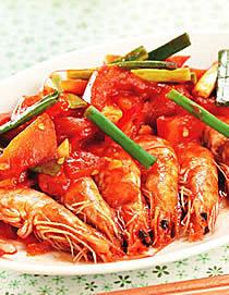 茄汁炒鮮蝦