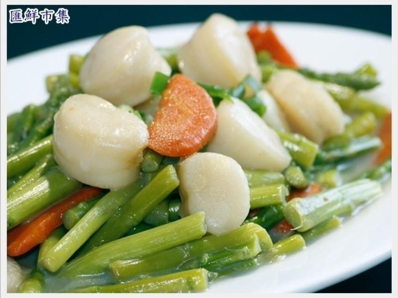 腰子貝炒蘆筍1