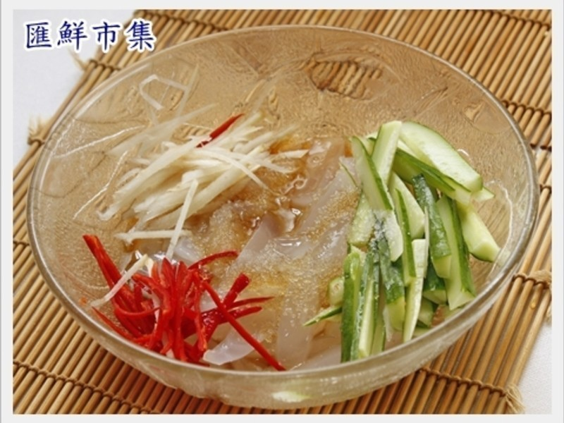 【養顏料理】涼拌曼波魚皮5