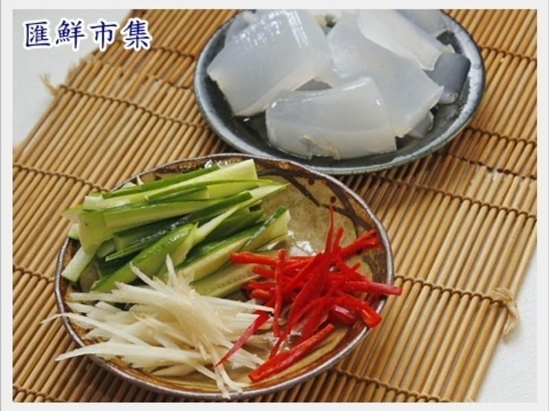 【養顏料理】涼拌曼波魚皮2