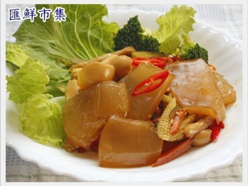 【膠原蛋白美顏料理】炒曼波魚皮1