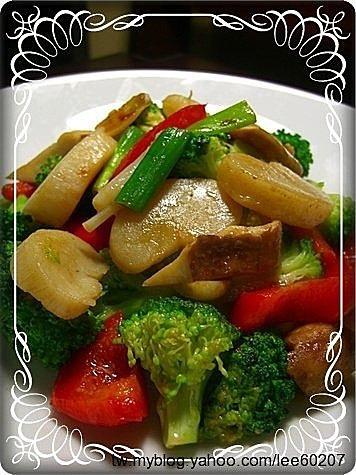 蘆筍帶子溫沙拉 干貝炒時蔬3