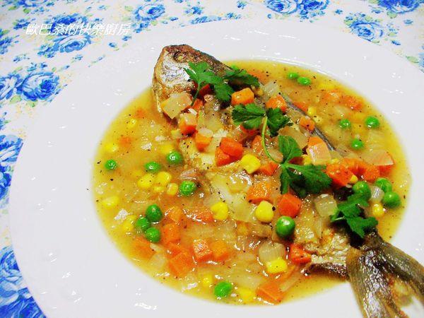 黑胡椒醬花鯧魚
