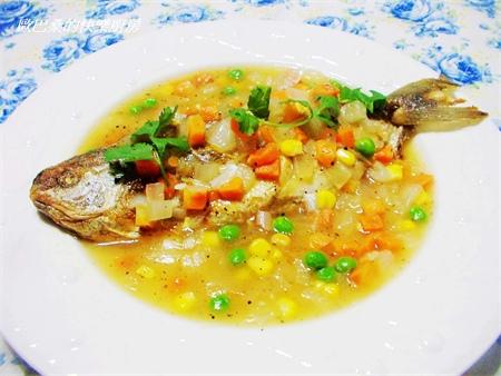 黑胡椒醬花鯧魚10
