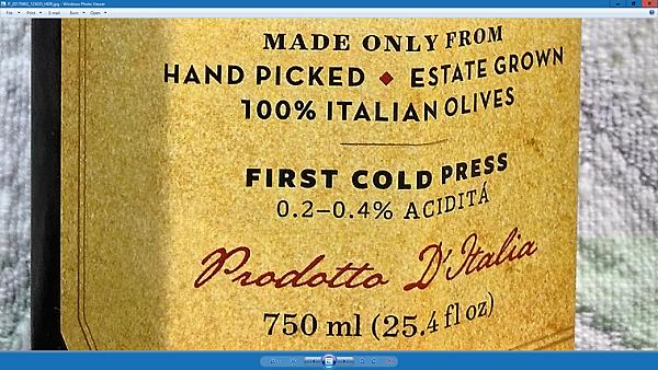 L70905 Oil Labela