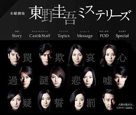 2012夏季日劇:東野圭吾ミステリーズ