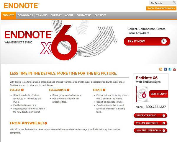 Endnote Homepage