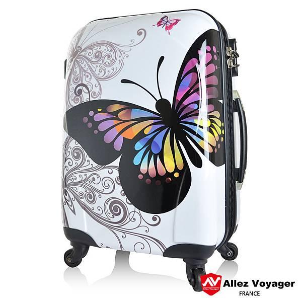 法國奧莉薇閣行李箱-彩蝶系列