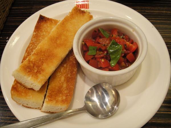 義式黑醋茄丁大蒜麵包