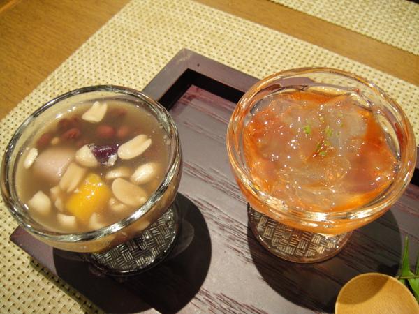 甜點--檸檬石花凍、九份芋圓