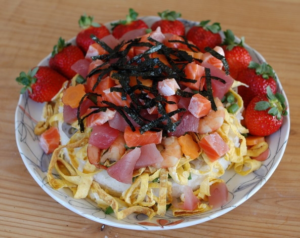 慶祝晚餐-散壽司