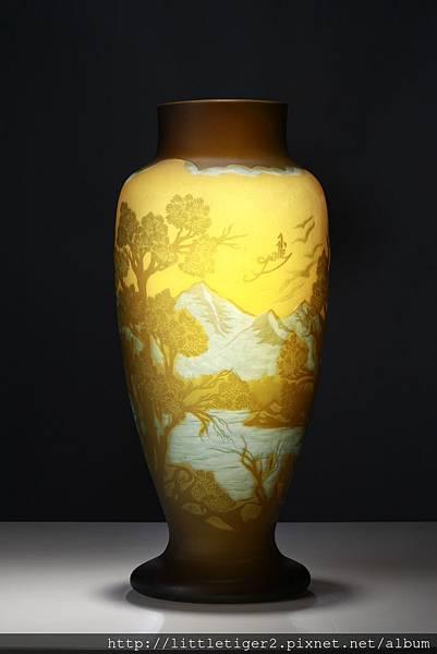 48浮雕 玻璃花瓶 16x41