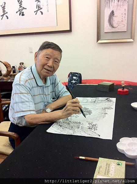 馬龍老師畫山水