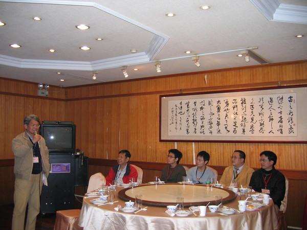 袁兄在大會上報告,他是永遠的活動高手。