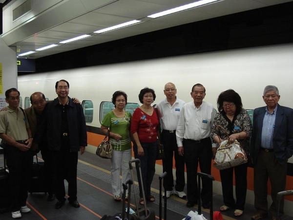 從台北搭高鐵南下,新鮮又神氣。