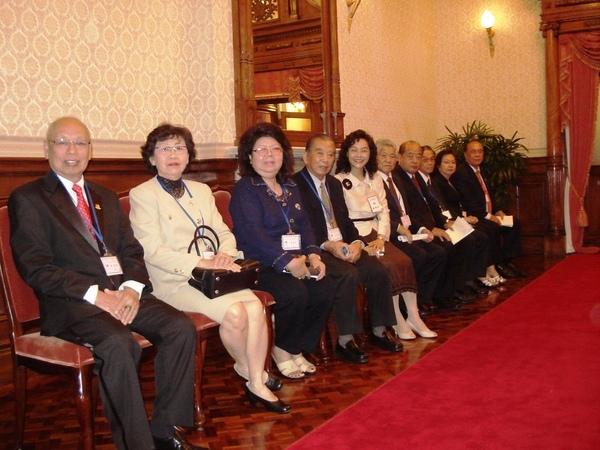 台北賓館內總統接待外賓的會客室外,休息等候區。