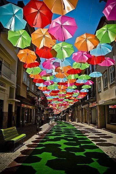 葡萄牙阿格達傘街