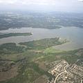 08/26美國時間下午飛到德州,看到廣袤的德州丘陵與平原河川,沃野千里.