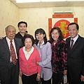 李老師87壽誕,師母,師妹小英夫妻與我們.