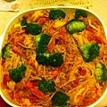 20130630-1.退伍宴第一回合,黃家宴,黃媽媽淑藻的義大利麵。